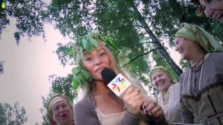 Женя Искандарова идёт на день Ивана Купалы в