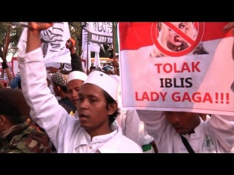 """Go to hell Lady Gaga,"" say Jakarta protesters"