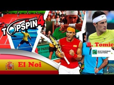 Top Spin 4 ps3 español modo carrera   BNP Paribas Master ATP   1º Ronda Bernard Tomic muy difícil