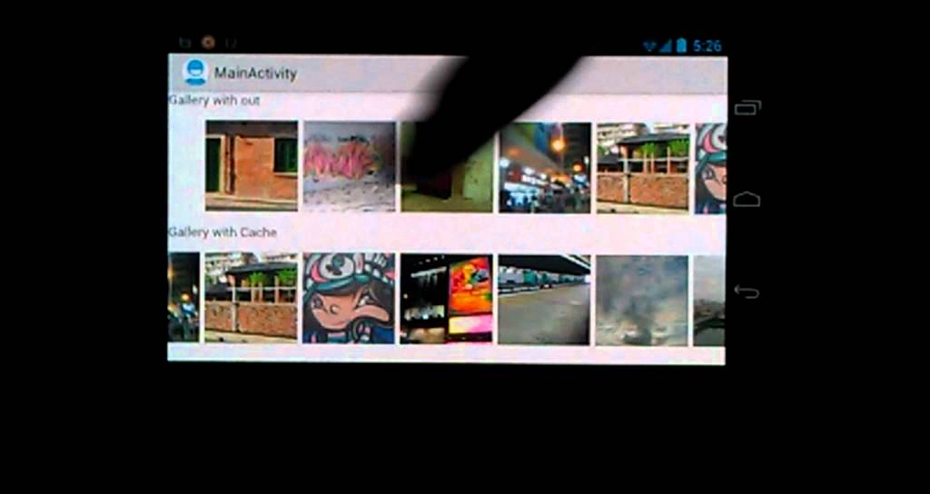 Android Gallery widget with cached Bitmap