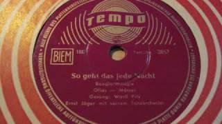 """Gerd """"Wastl"""" Fitz So geht das jede Nacht (Freddy-Titel) 1956 deutscher Rock"""