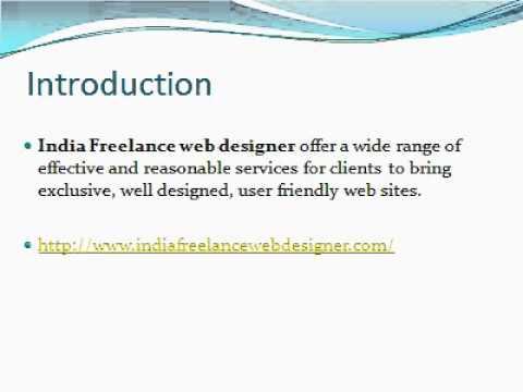 India Freelance Web Designer, Freelance Web Designer