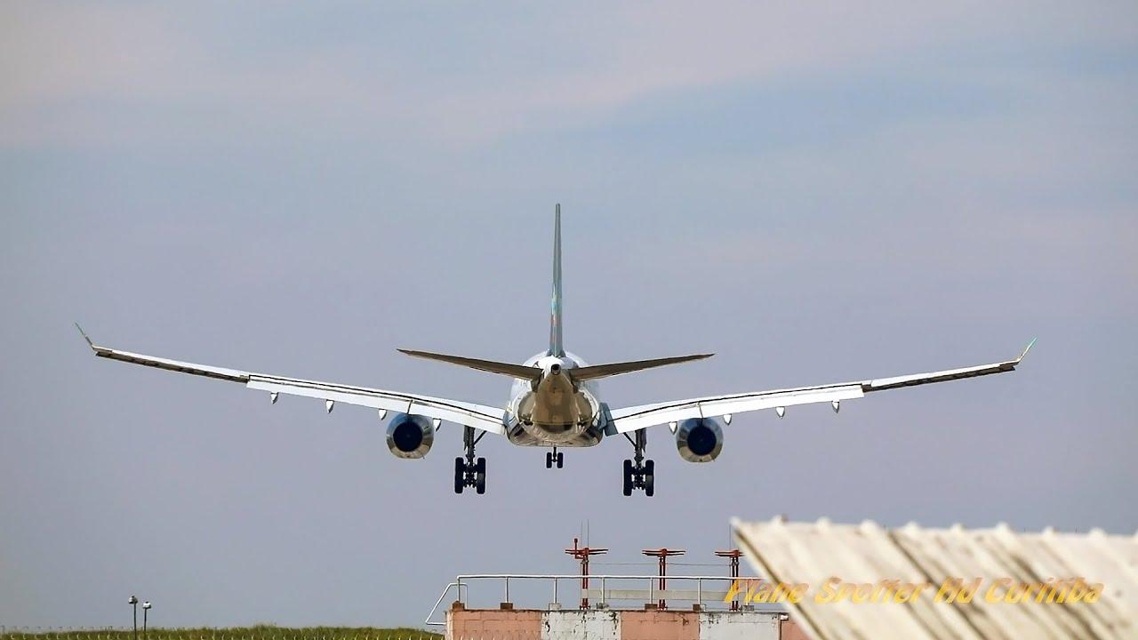 Dia Histórico em Curitiba: Airbus A330 da Azul faz 7 TGLs no Aeroporto Internacional Afonso Pena