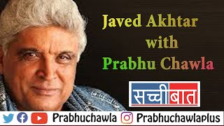 Javed Akhtar with Prabhu Chawla on Seedhi Baat