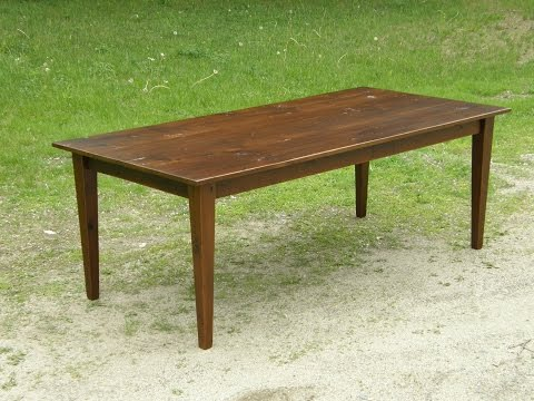 Reclaimed Wood Table (Part 1/3 - Tapered Legs)