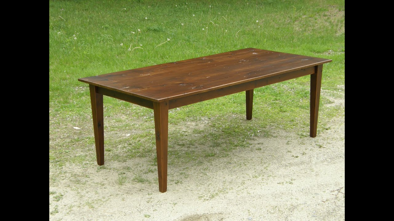 Reclaimed wood table part 13 tapered legs youtube watchthetrailerfo