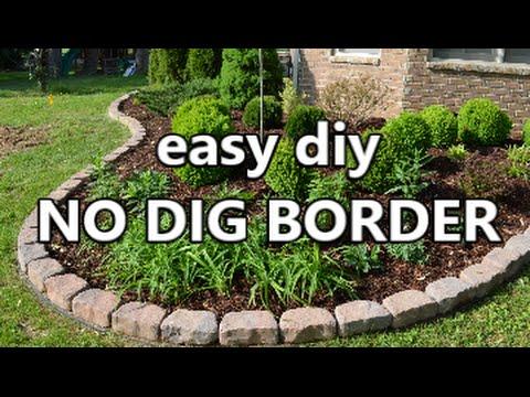 Easy Diy No Dig Border YouTube