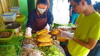 Xe bánh mì Pate Gia Lai 6 người bán không kịp trên vỉa hè Sài Gòn vì độ ngon | street food of saigon