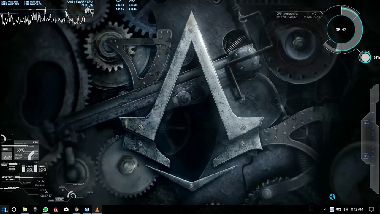 Feature Wall Wallpaper 3d Assassin S Creed Live Wallpaper Youtube