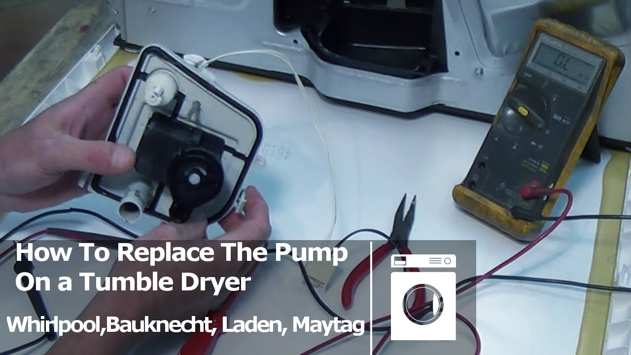How to replace or service a condenser tumble dryer pump unit ...