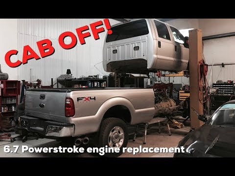 2015 Powerstroke Engine upgrade!   CAB OFF of the 2011 Ford F350!