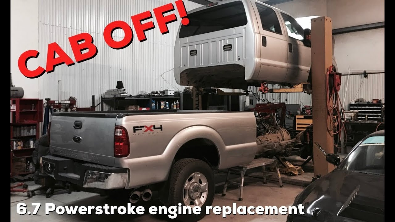 I Fixed It 2011 Ford F350 6 7 Powerstroke Engine Replacement First Drive Youtube