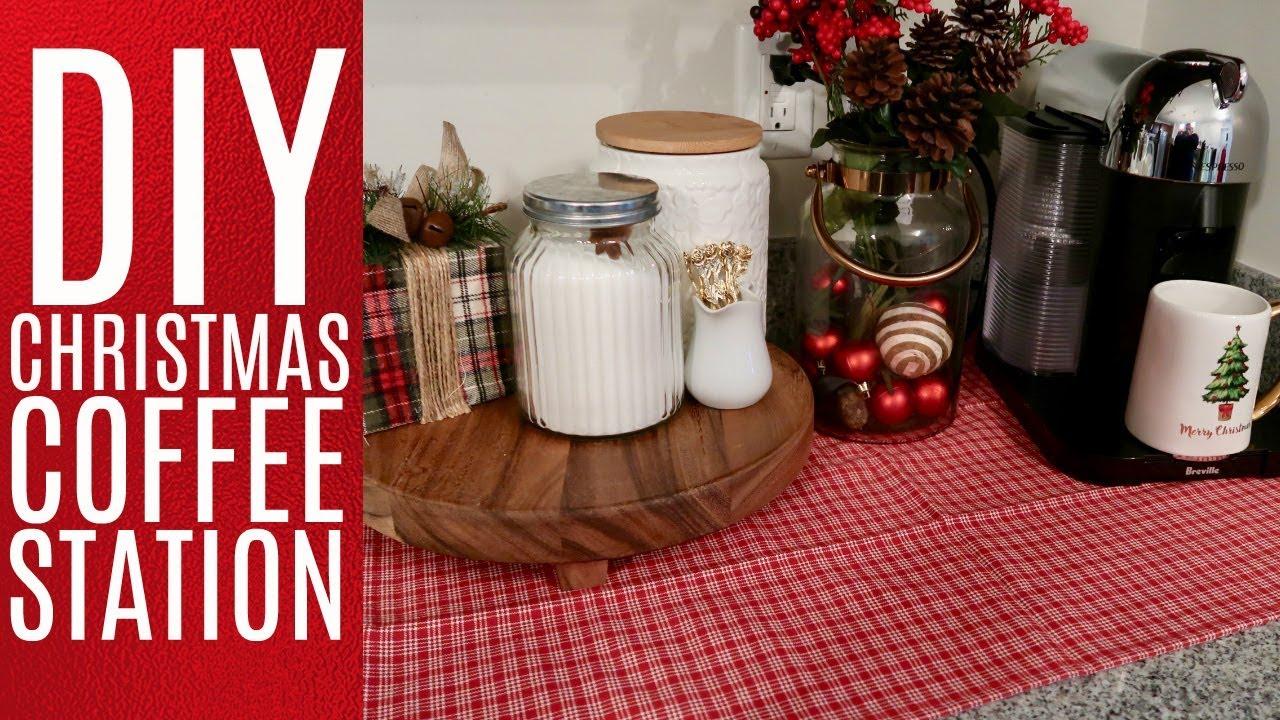 DIY CHRISTMAS COFFEE STATION + CHRISTMAS DECOR TIPS // CHRISTMAS 2017