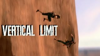 Новички альпинисты срываются в пропасть.Вертикальный предел.|Newcomers climbers break into the abyss