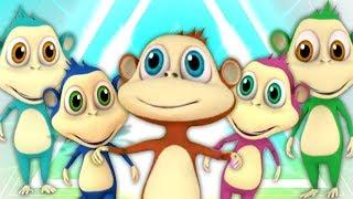 пять маленьких обезьян | прыгает на кровати | рифма в россии | детские стишки | Five Little Monkeys