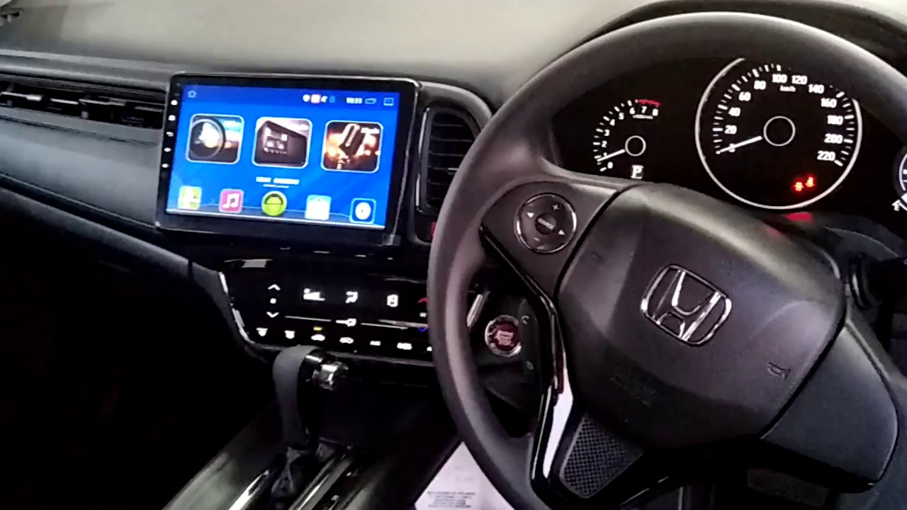 Honda HRV Cogoo 10 1 inch Android Plus Player with OEM casing & Socket &  camera + obd brake lock by OneBiz MY
