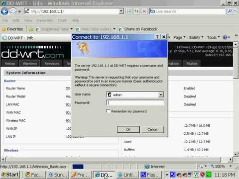 Project PWNED: Video 2 - PWNING a DD-WRT router through default  username/password