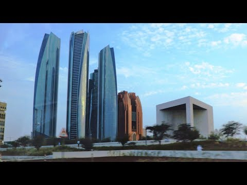 Just Passing by ADNOC Headquarters, Etihad Towers, and Founder's Memorial, Abu Dhabi, UAE