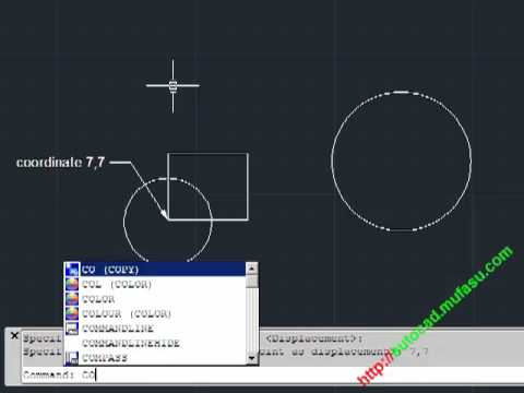 Autocad move and copy with coordinate youtube for Copy cad