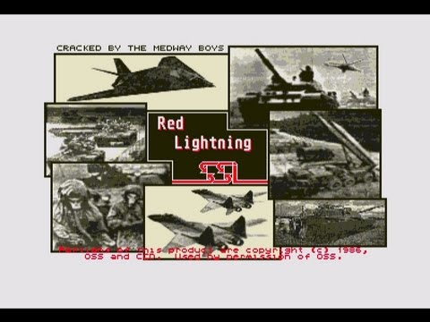Red Lightning by SSI for the Atari ST, Trusteft's Retro Weekend