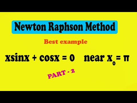 How to solve Newton Raphson method example step by step (PART-2)