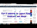Top 5 website to check Forex forecast and News