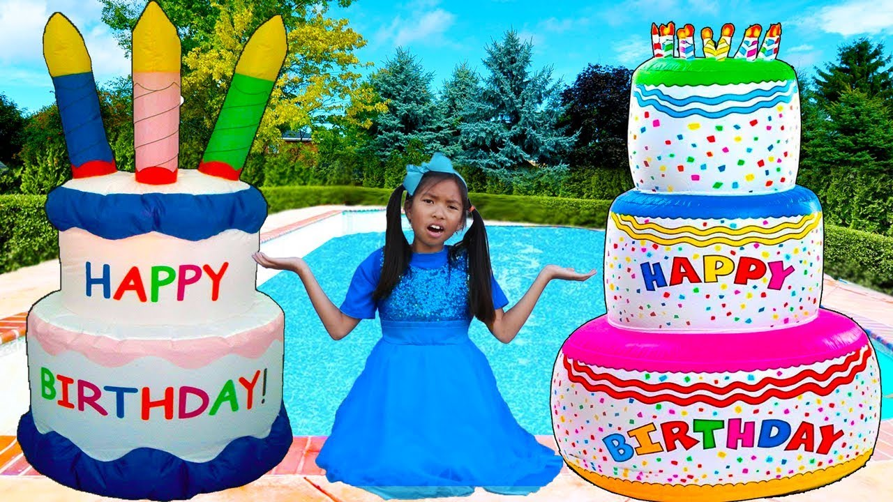 Giant Happy Birthday Cakes Toys Wendy Pretend Play