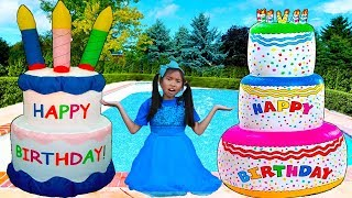 Giant Happy Birthday Cakes Toys | Wendy Pretend Play Surprise Party Kids Toy mp3