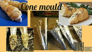 How to make Cone moulds At home / DIY Cone moulds/ Kitchen Hack _ AinyCooks
