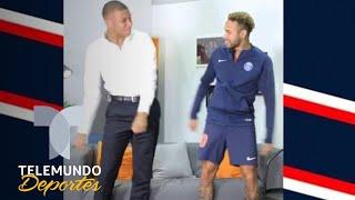 Mbappé learn from Neymar Fortnite Floss | Telemundo sports