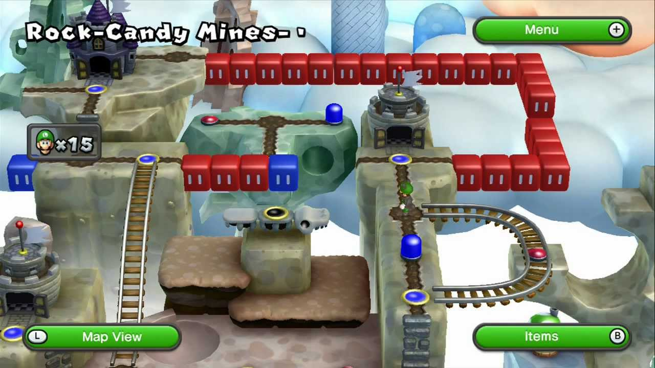 how to get to rock candy mines 6 luigi
