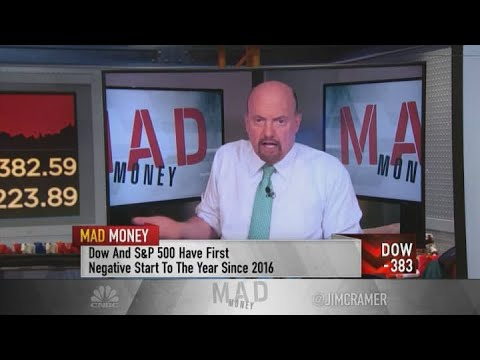 Jim Cramer reacts to Monday's market sell-off: Fall back on bullish themes