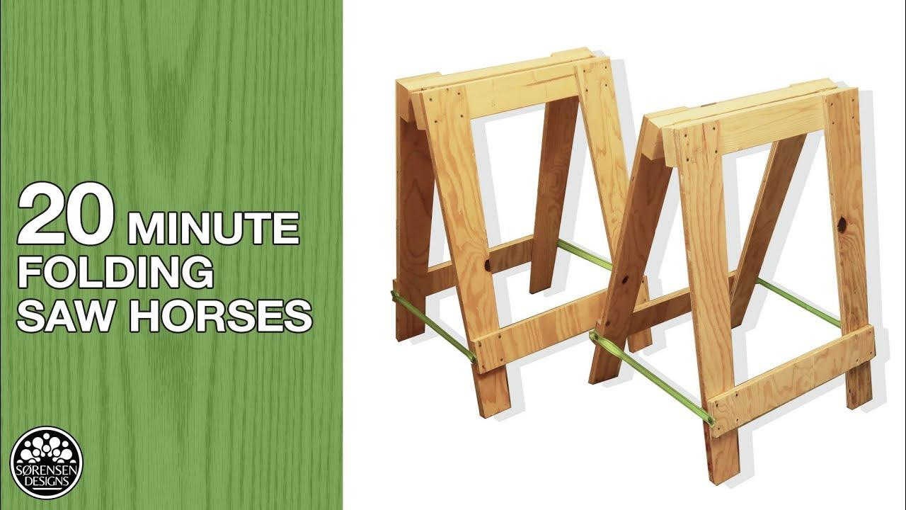 20 minute folding sawhorses