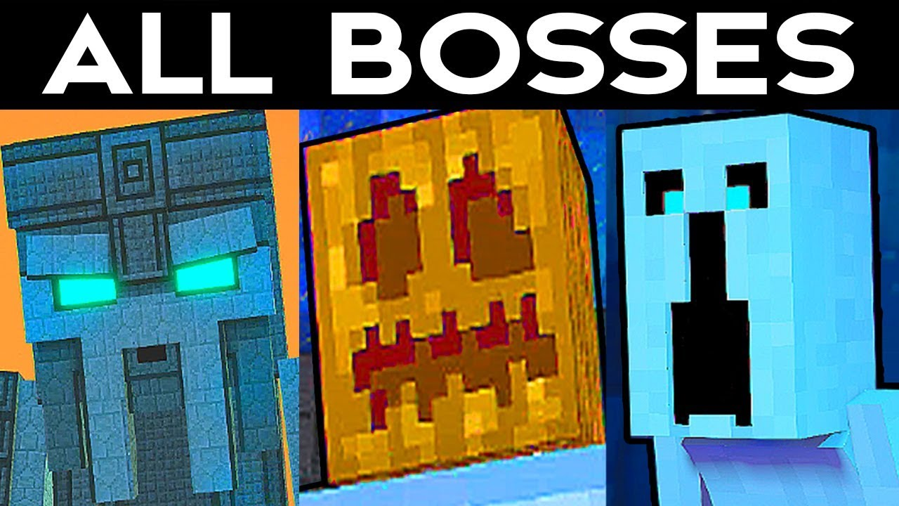 Minecraft Storymode Season 2 Episode 2 All Bosses Final Boss