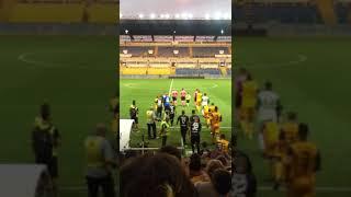 Coppa Italia, Parma-Pisa, ingresso squadre in campo