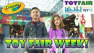 TOY FAIR WEEK! Crayola Color Alive, Animation Studio, Cling Creator, Crayon Carver, Thread Wrapper