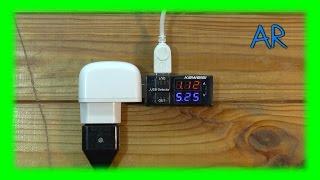 USB тестер - вольтметр-амперметр с двухрядным ж.к. дисплеем. Обзор  и тестирование.