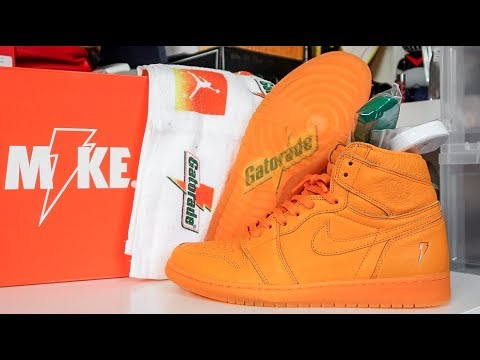 AIR JORDAN  ORANGE PEEL  GATORADE 1 REVIEW + ON FEET!!! - YouTube b183ea6db