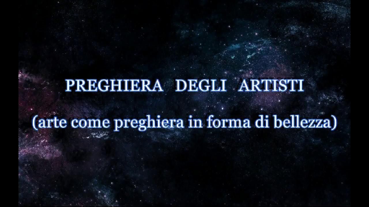 PREGHIERA DEGLI ARTISTI