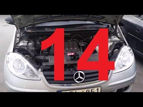 Снятие и установка двигателя Mersedes A класса W169 2.0 CDI (14)