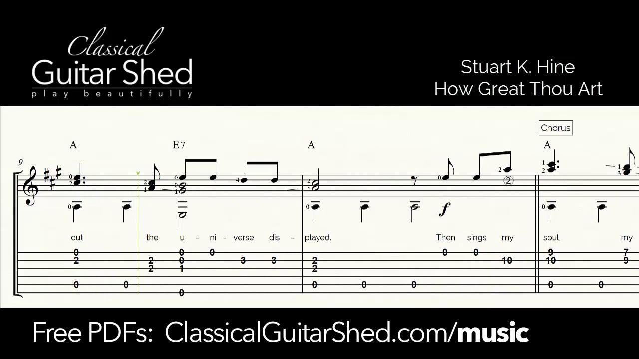 How Great Thou Art - Free Classical Guitar Sheet Music