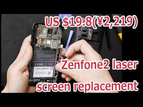 画面交換 ZenFone 2 Laser (ZE500KL) screen replacement