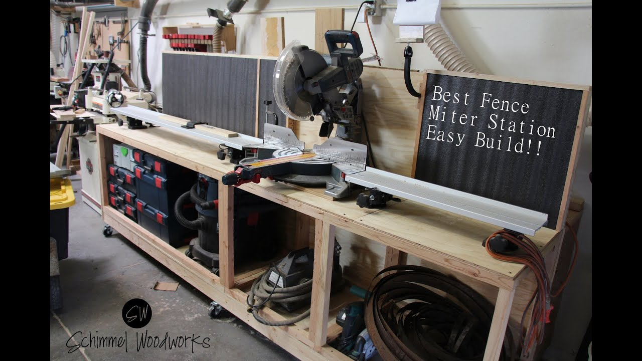 Fast And Easy Miter Saw Station And Wood Storage Using The