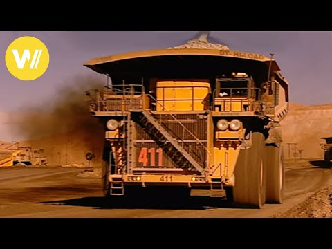 The Giant Trucks From The Copper Mine In Chuquicamata (Chile)
