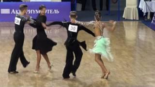 ПМ Юниоры-2 10 танцев Финал Самба Борискин Данила - Ульянова Елизавета