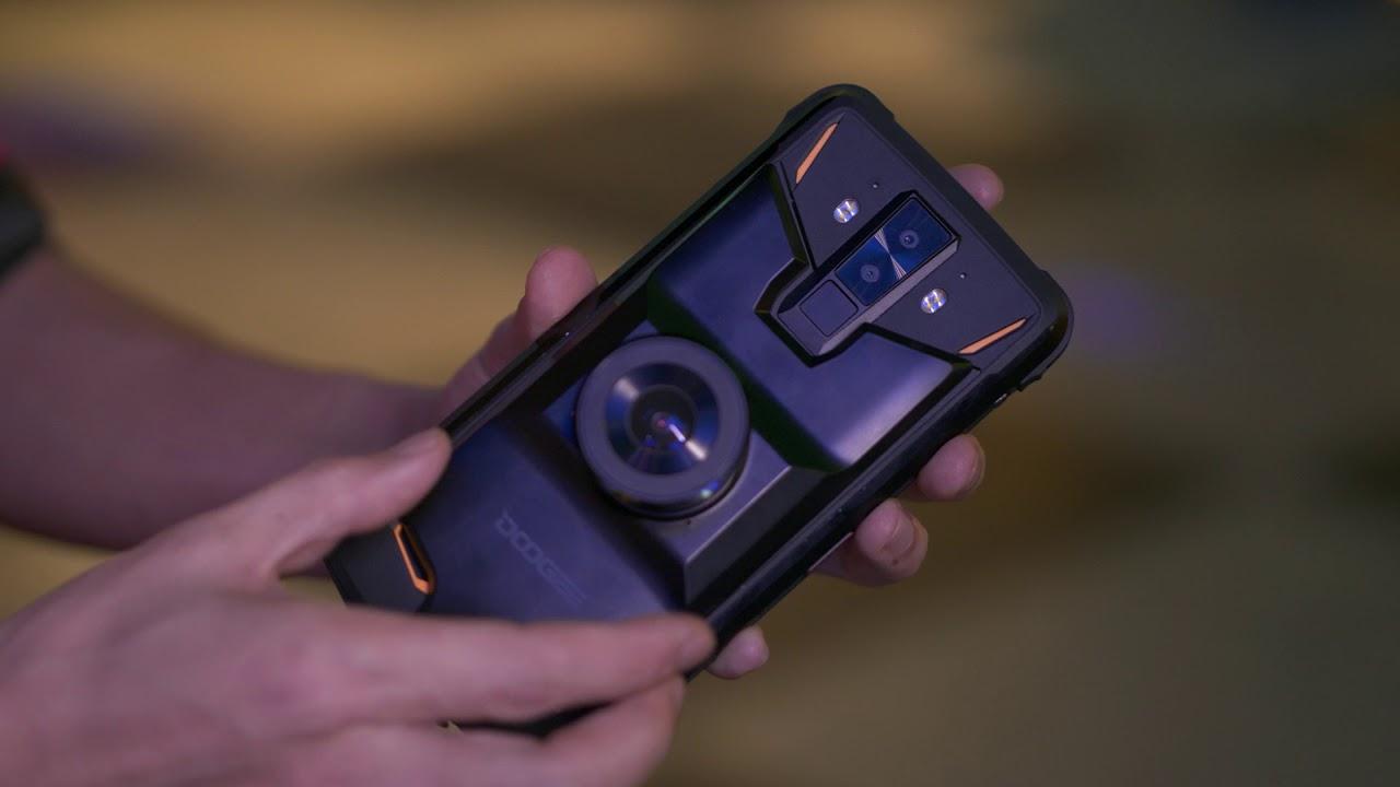 DOOGEE S90 Night Vision Camera Module VS iPhone 8 Plus Camera