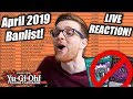 Yu-Gi-Oh! Official April 2019 TCG Banlist! LIVE REACTION!