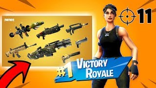 (LEGENDARY GUNS ONLY) Solid Gold Madness!! - Console Fortnite