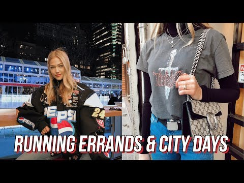vlog: monday errands, thrift shopping, exploring nyc | maddie cidlik