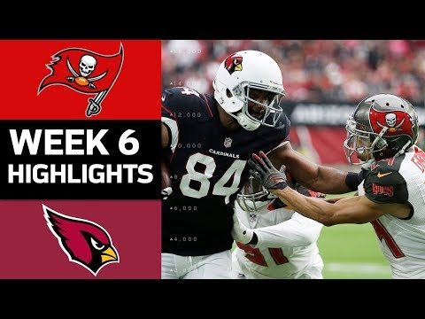 Buccaneers vs. Cardinals | NFL Week 6 Game Highlights